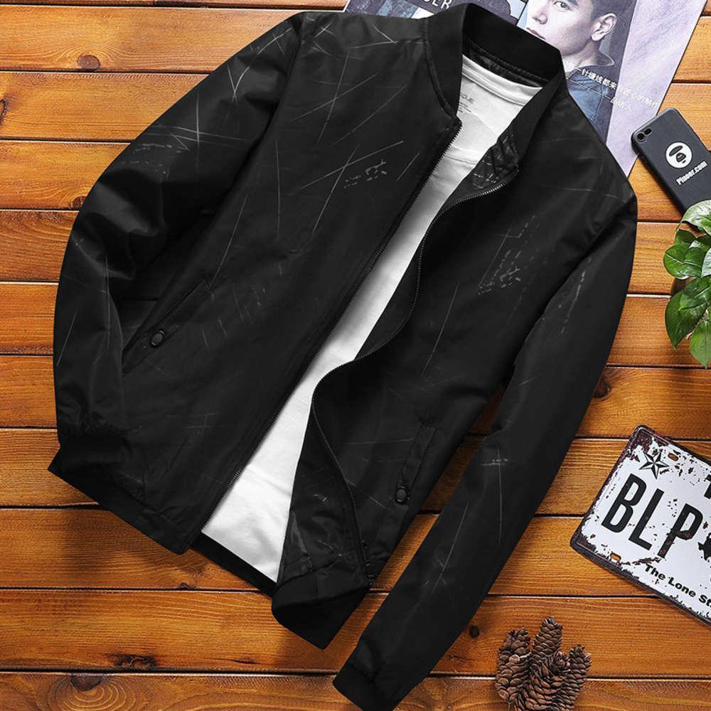 2020 весна новая мужская мода повседневная полосатая бейсбольная воротник куртка