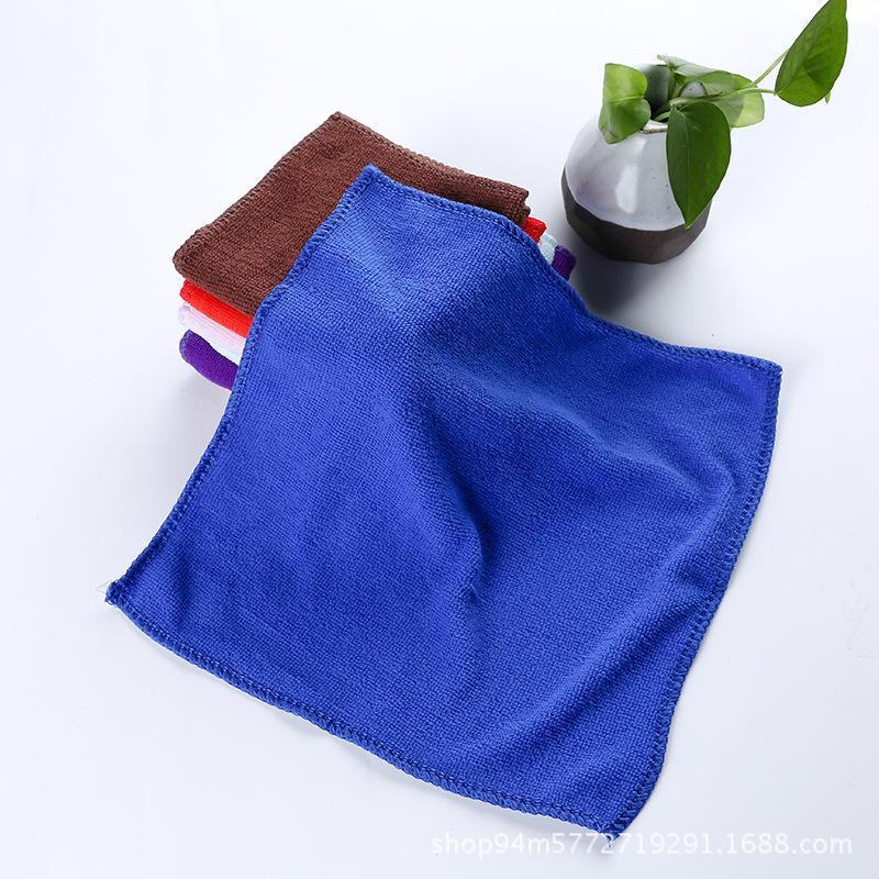 100pc Lot 20cm * 20cm Microfiber Cleaning Cloth Handdoek, Badhanddoek, Reizen Camping Handdoeken Multifunctioneel