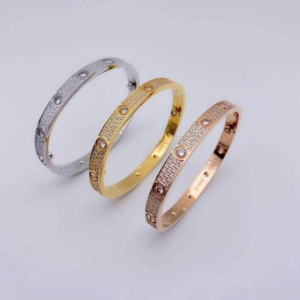 Luxurys Designer Mode High-End 316L Titan-Stahl-Micro-Inlaid-Diamant-Armband