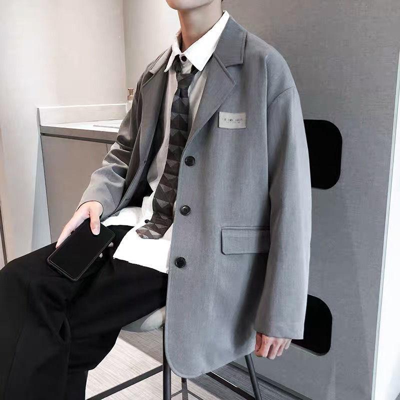 Men's Suits & Blazers 2021 Korean Streetwear Mens Suit Jacket Formal Oversized Blazer For Men Los Hombres Chaquetas Y Americanas Veste Homme