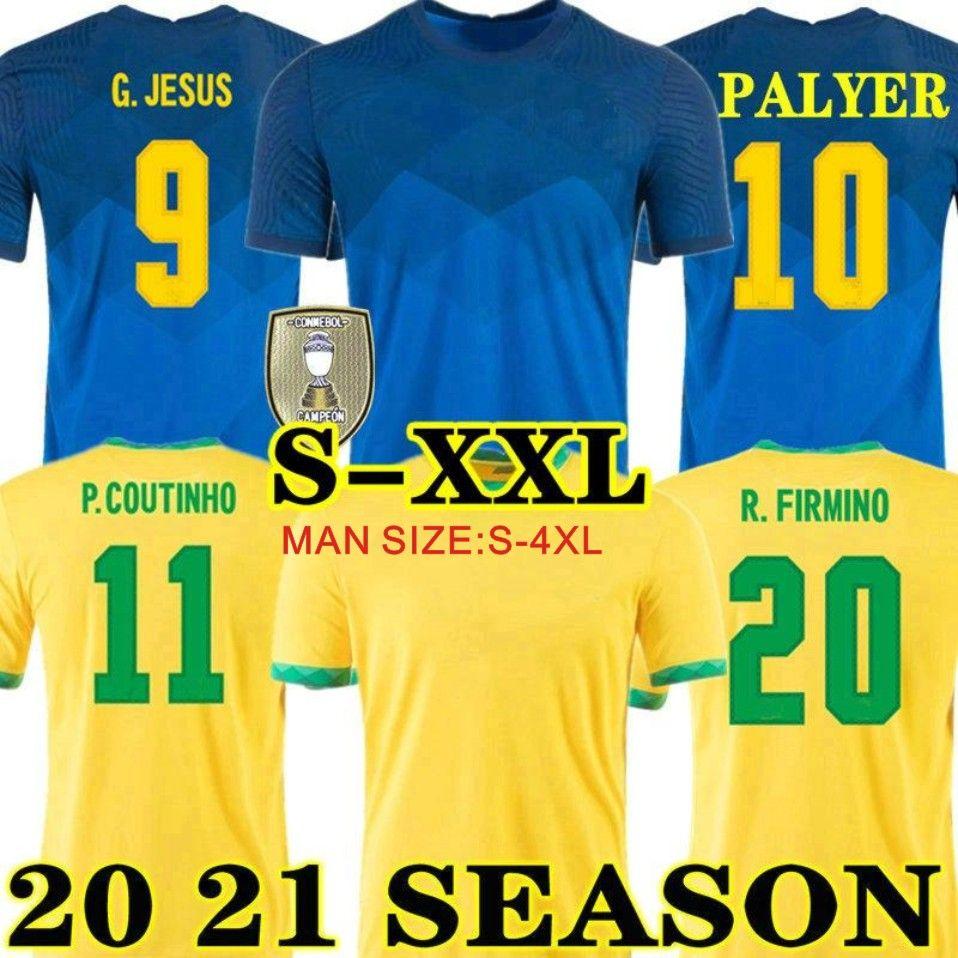 2022 G.Jesus Coutinho Firmino Soccer Jersey Brasil Home Willian Marcelo Paulinho 2020 2021 Camisa de fútbol Neyma Jr Man + Kids Kit