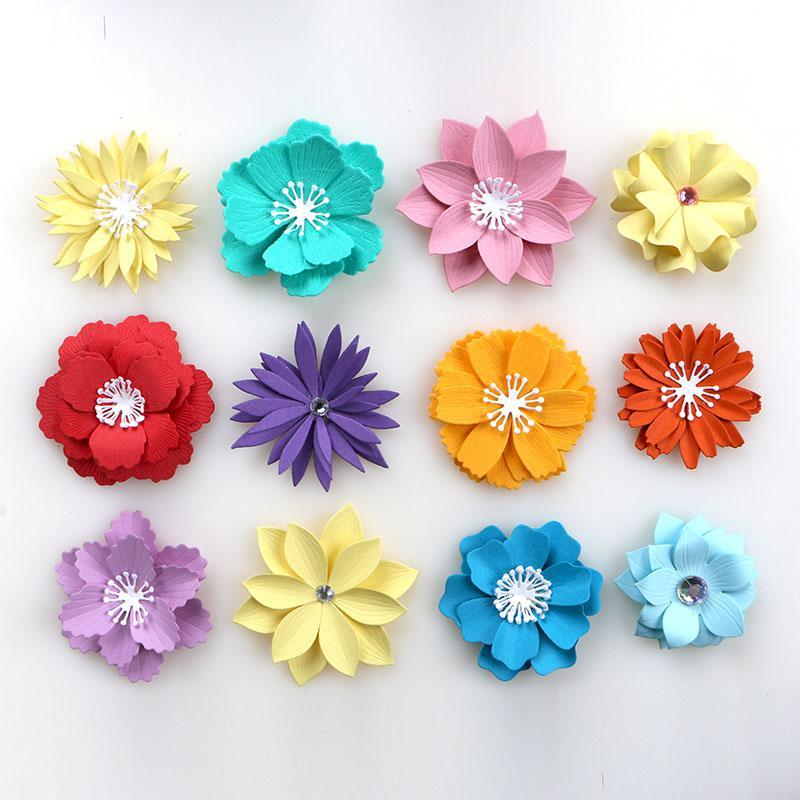 Painting Supplies DUOFEN METAL CUTTING DIES 2021 Varieties Of 3D Flowers Stencil For DIY Papercraft Projects Scrapbook Paper