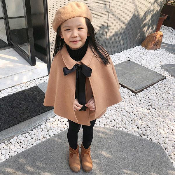 Abrigos de lana de las niñas Cape de los niños sobre la princesa princesa chal Buena calidad