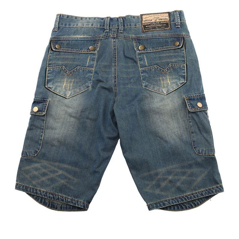 Summer Fashion Denim Denim Carga Shorts Zippers Multi Big Bolsets Straight Algodón Casual Jeans Pantalones cortos 2020 Nuevos Jeans Cargo corto L0221