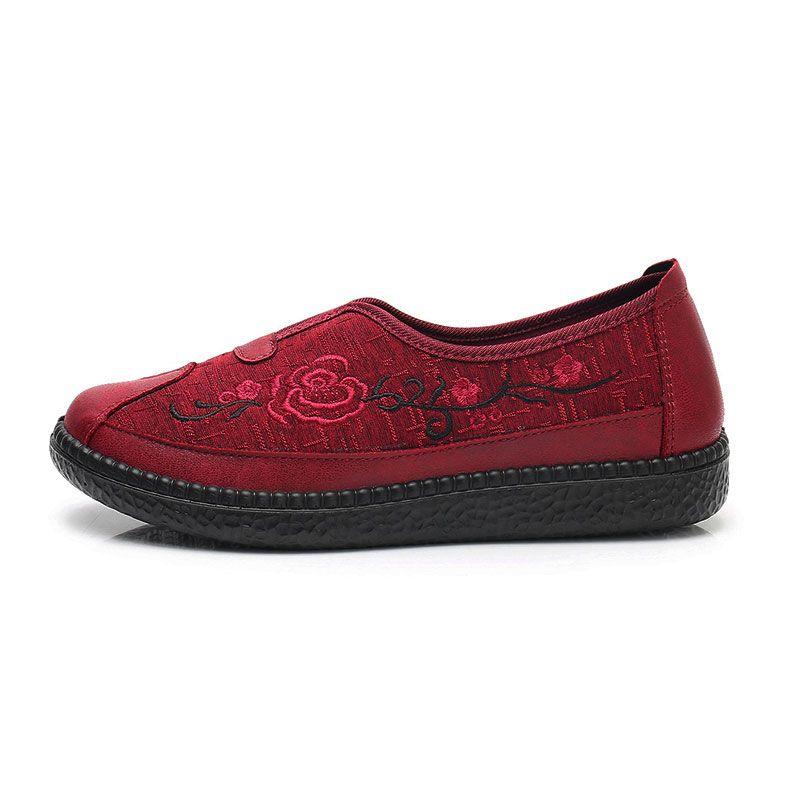Özerklik Marka kadın İşlemeli Ayakkabı Kırmızı Boyutu 28 En Kaliteli Spor Ayakkabı Düşük Kesilmiş Nefes Pedal Rahat Ayakkabılar