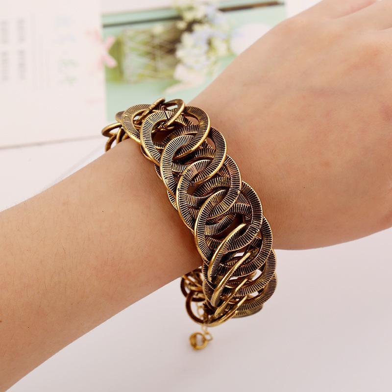 Персонализированные металлические круглые сплавные браслеты моды Trend преувеличены