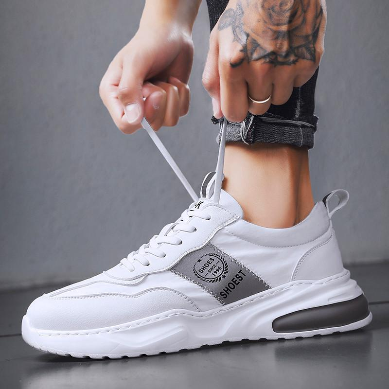 Large size mens casual shoes running shoes air cushion shoes Breathable rubber and plastic soles over a thousand fabrics