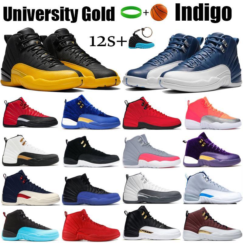 أسود الجامعة الذهب 12 12 ثانية أحذية كرة السلة رجل النيلي عكس سيارات الأجرة لعبة الثيران شروق الشمس قزحي الألوان الركض حذاء رياضة