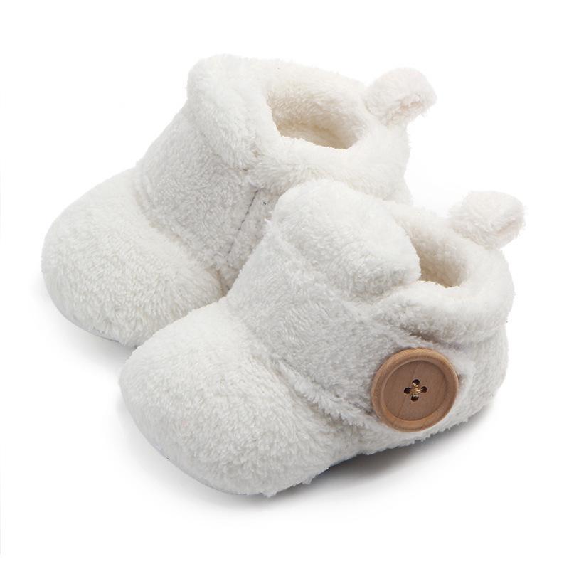 Зимние коралловые флисовые новорожденные вязание крючком детские пинетки детская обувь теплый младенческий девочка мальчик ботинки для первых ходунок нескользящая малыша Schoenen