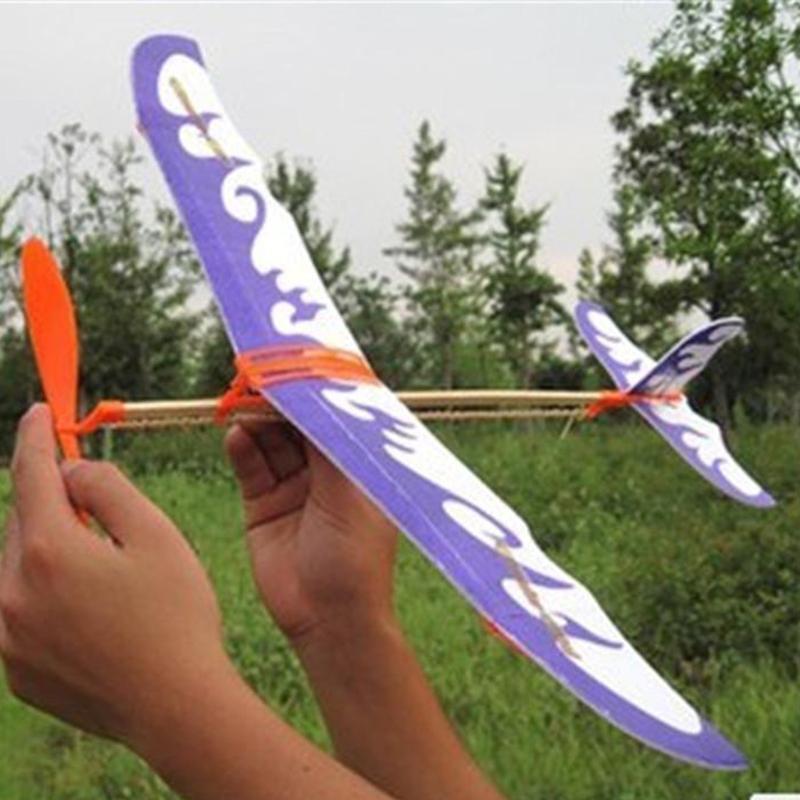 Neuheit Thunderbird Gummiband betriebenen Modellflugzeug Flugzeug DIY stereoskopischen Wissenschaft Spielzeug Flugzeugmodell Flugzeug freies Verschiffen
