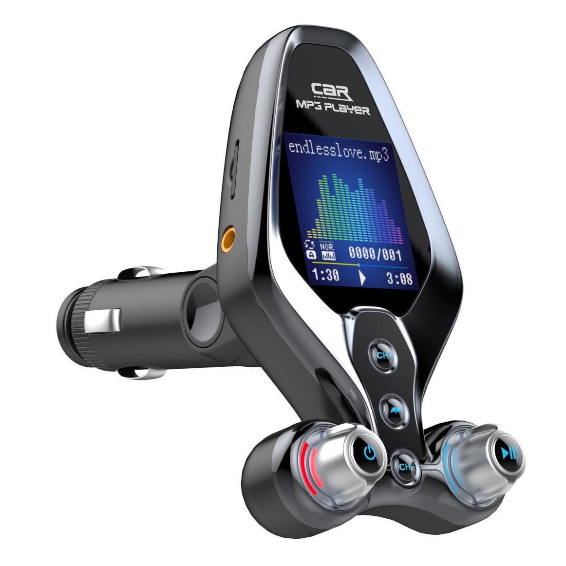 BT26 Bluetooth 5.0 FM Sender Dual USB Car MP3-Player Freisprecheinrichtung Eine Kennzahl Ein- / Aus-EQ-Modus Schnellladegerät