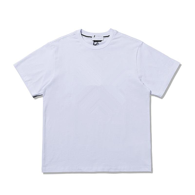 Cptopstoney 2021 여름 순수한 면화 통기 편지 로고 인쇄 Tshirt 간단한 패션 커플 짧은 소매 망 탑