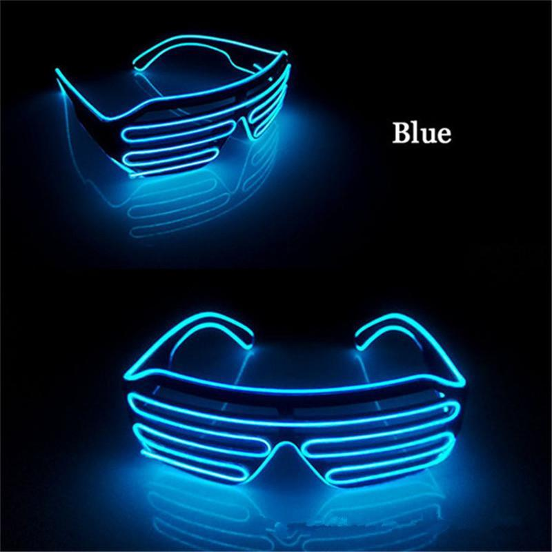 New LED Neon Party EL Glasses EL Wire Neon LED Sunglasses Light Up Glasses Rave Costume Party DJ SunGlasses Birthday Party Decor