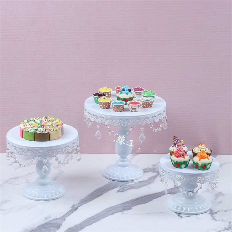 Crystal Stand Wedding Dessert Tray Mirror Surface Cake Stand Wedding Party Birthday Pan Cake Cookies Display Plate 8/10/12 Inch 701 K2