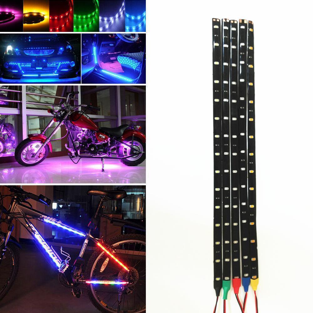 1 pcWaterproof 12v 30 cm 5050/3528/2835 SMD LED tira luz fita corda para carro / casa decoração de Natal luzes de corrida diurna DL