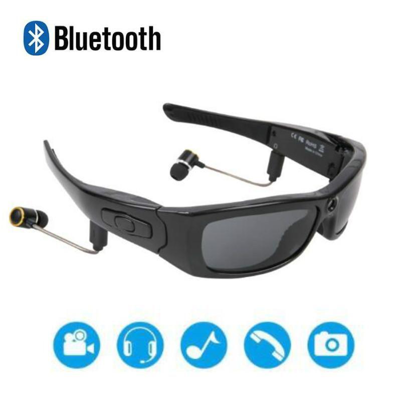 Mini cámaras Gafas inteligentes Cámara deportiva HD1080P Música Bluetooth Gafas de sol Registrador de conducción Vacadoras multifuncionales