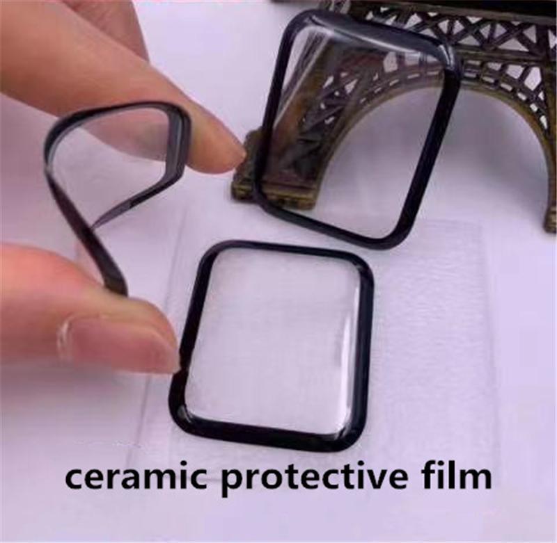 ل Apple Watch 6 SE 5 40 ملليمتر 44 ملليمتر الأفلام 3d كامل منحني السيراميك لينة حامي الشاشة تغطية iwatch سلسلة 2 3 38 ملليمتر 42 ملليمتر لا الزجاج المقسى