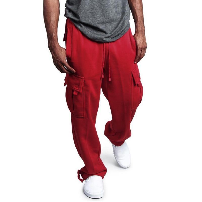 Hombres Pantalones Joggers Hiphop Fashion Casual Pantalones rectos Hombres Streetwear Elástico Cintura Trabajo Casual Fit Hip Hop Pantalones Pantalones