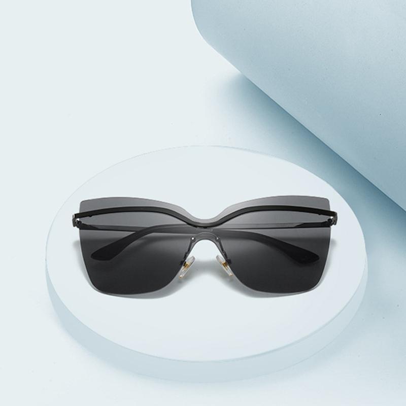 Cat Eye Sunglasses Women Fashion Rimless Sun Glasses Men Luxury Gafas Oversize Sun Glasses Vintage Oculos Retro Lunette Shades