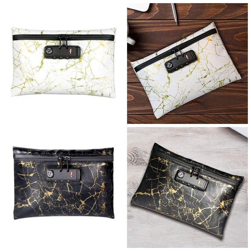 Colorful PU Smell Proof Stash Bag Lined Travel Case Handbag Password Lock Pocket For Lighter Spices Grinder Herb Tobacco Smoking Handpipe