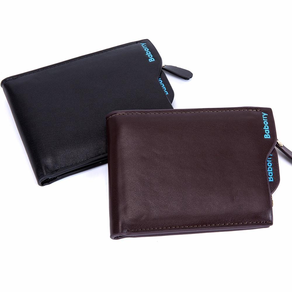 Fashion Men Wallets with Coin Pocket Small Mini Wallet Purse Zipper card Money Clip Purses