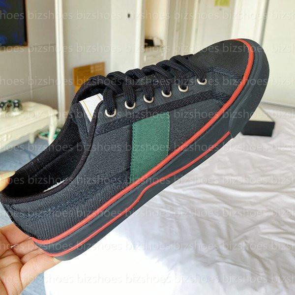 TENNIS 1977 حذاء رياضة إيطاليا منخفضة أعلى عارضة الأحذية الأخضر والأحمر ويب شريط المطرزة الدانتيل متابعة قماش مصممي الأحذية