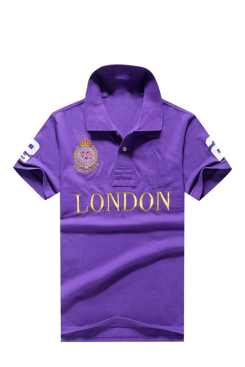 Yüksek Kaliteli Klasik At Yarışı Tasarımcısı Erkek Polo # 8072 Kapalı Lüks Kısa Kollu Beyaz Yaz RL Rahat Moda Nakış Yaka T-shirt