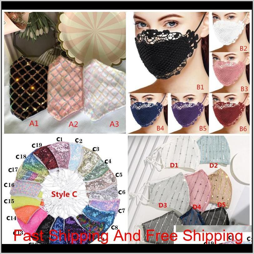 Sparkly Blink Jewel Lace Face Mask Fashion Party Women Mask For Decoration Dust Sun Wa qylJnA abc2007