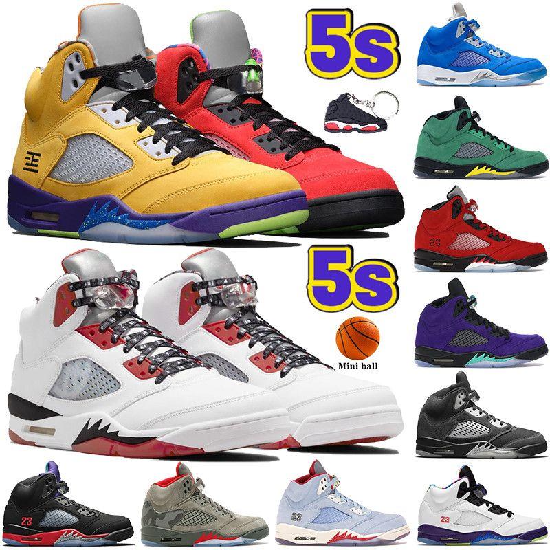 2021 Newest 5 5s Hombres Zapatos de baloncesto Quai 54 RAGADO ROJO Ule alternativo What The The The Bluebird Oregon Top 3 Mens Designer Sneakers