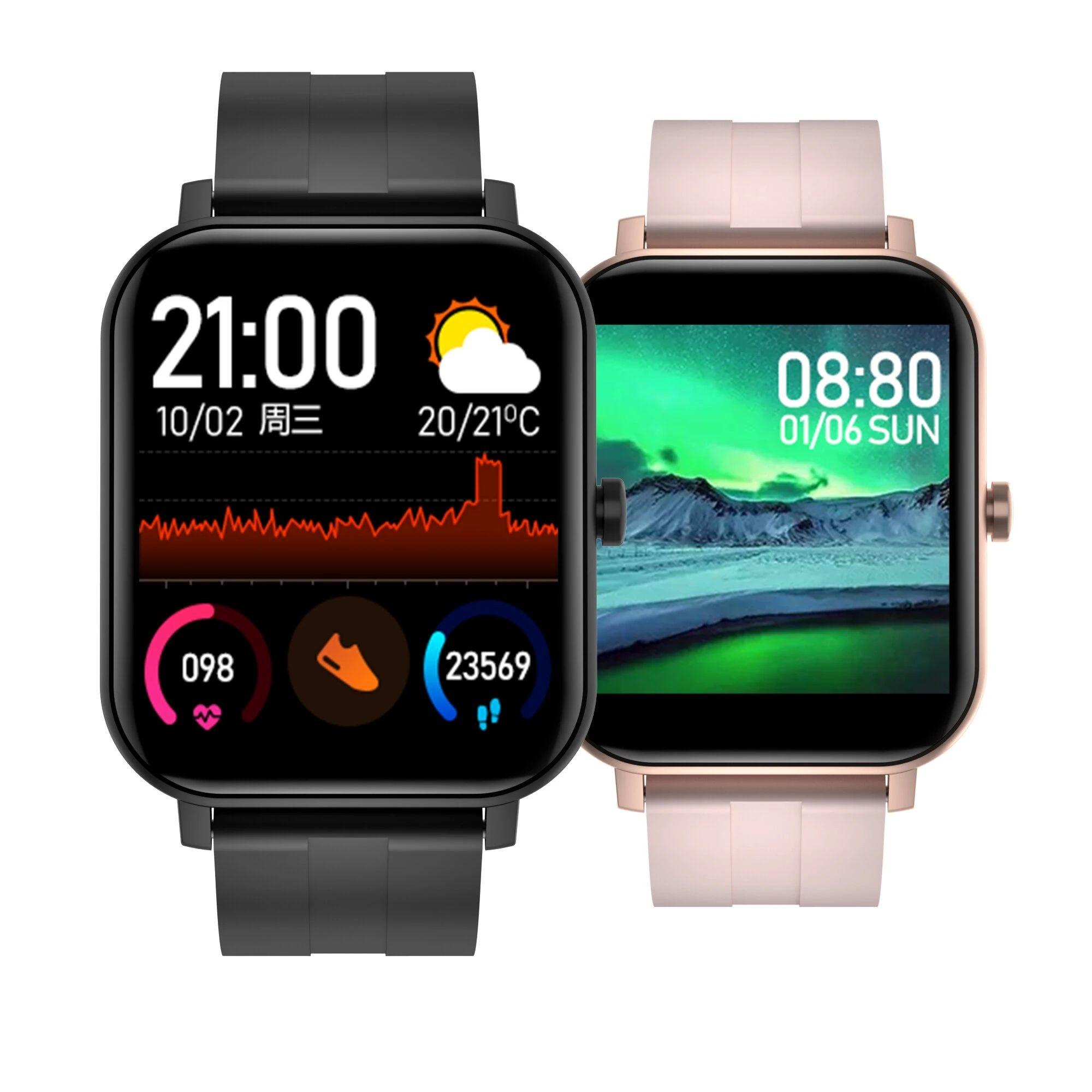 Bakee F22 1.4 дюймовый HD-браслет для экрана SPO2 Сердечный рисунок Монитор кровяных давлений Индивидуальный набор Погода Погода для умных часов - розовый
