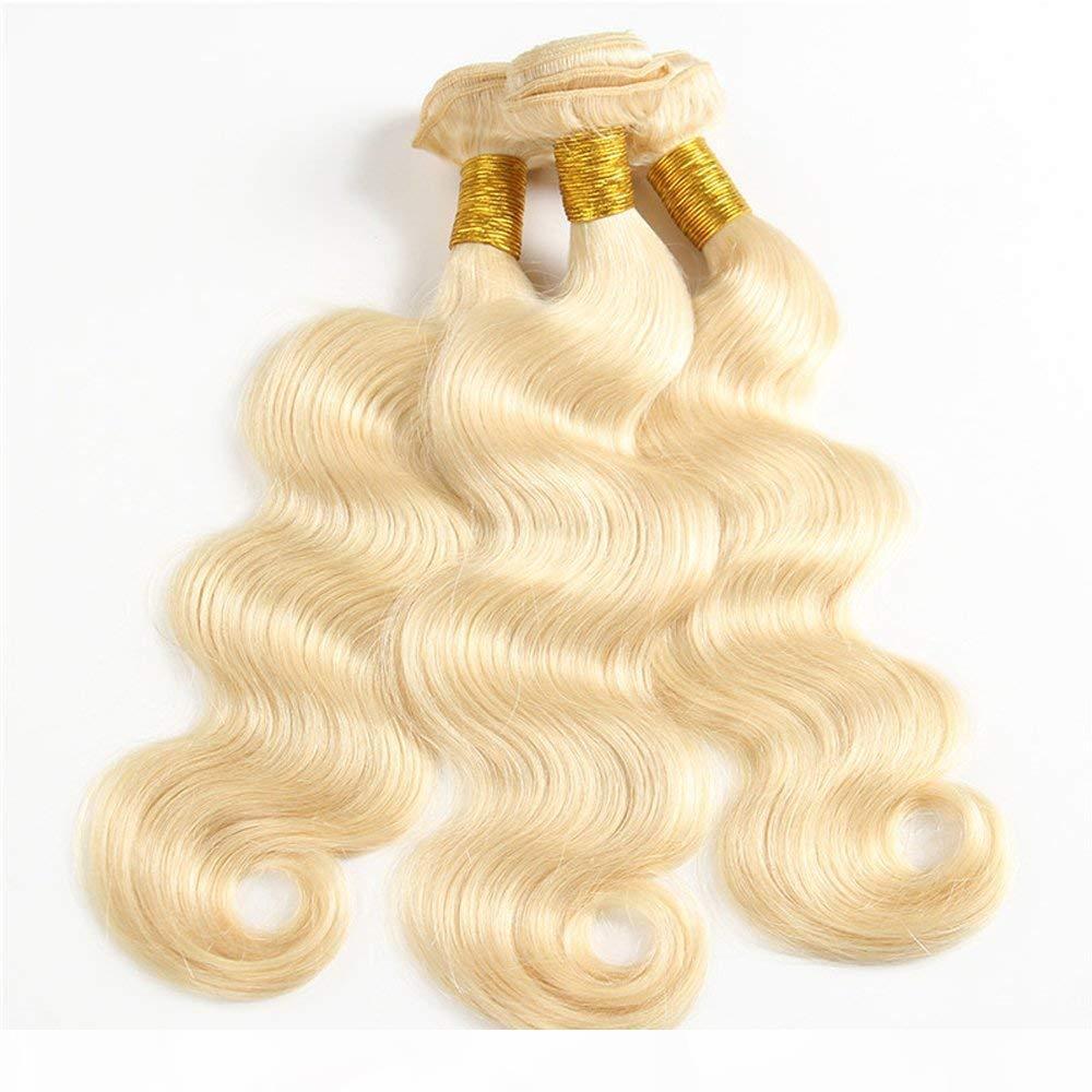 Büyük Stok # 613 Ağartılmış Sarışın Saç Örgüleri Brezilyalı Vücut Dalga İnsan Saç Atkı Remy Saç Paketleri Yüzde 100 Gram