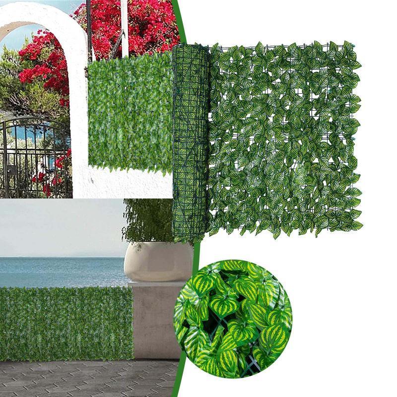 Clôture, Treillis Gates Artificielles Plantes Balcon Balcon Panneau d'écran Plant Clôtures Décoratives pour Indoorhome Decor Plantas Artificiels