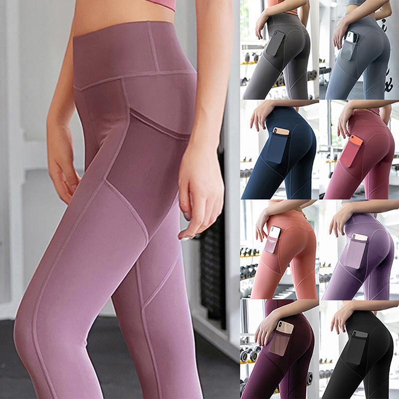 Femininas Leggings Womens Sexy Women Push Up Malha Alta Cintura Apertado Aptidão Hip Jogging Correndo Calças Moda Roupas
