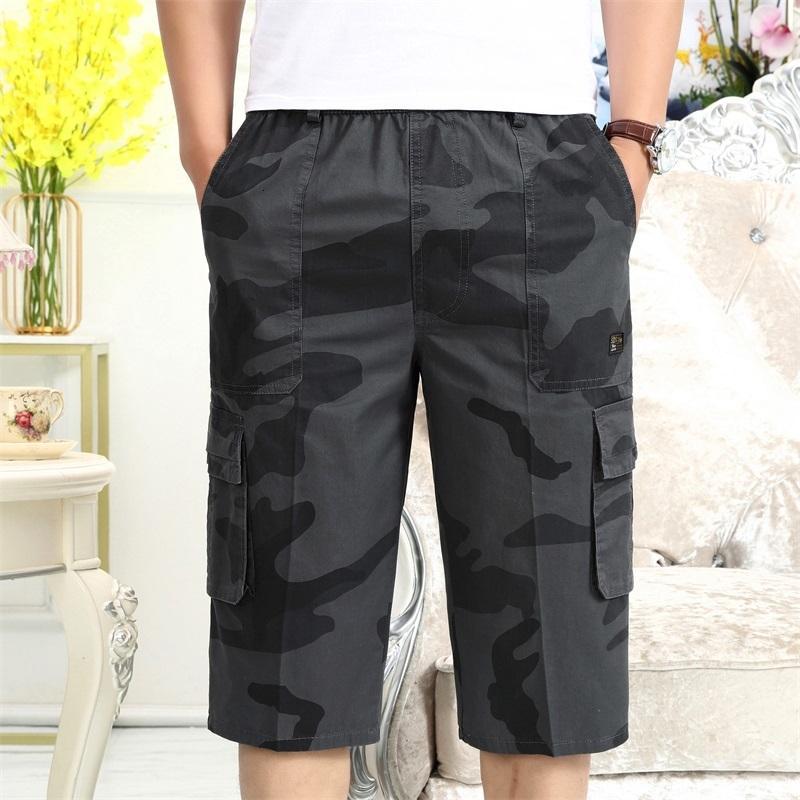 2021 NOUVEAU Jogger Hommes Short Fitness Pantalon Mid-Taille Drop Multi-poche Ils verront les shorts de Beach Homme Camouflage 6XL Sweatpants DDFE