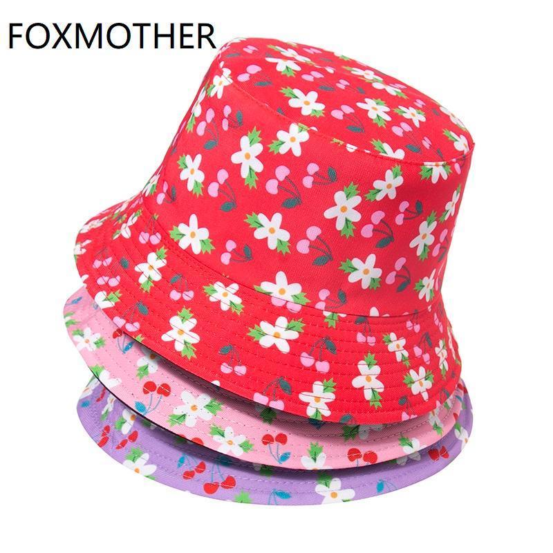 Широкие шляпы Breim Hats Foxmoth Мода Весна Летние Пешие прогулки Бич Рыболовная крышка Солнцезащитный крем Женский Боб Розовый Лаванда Красный Цветочный Ведр Женщины