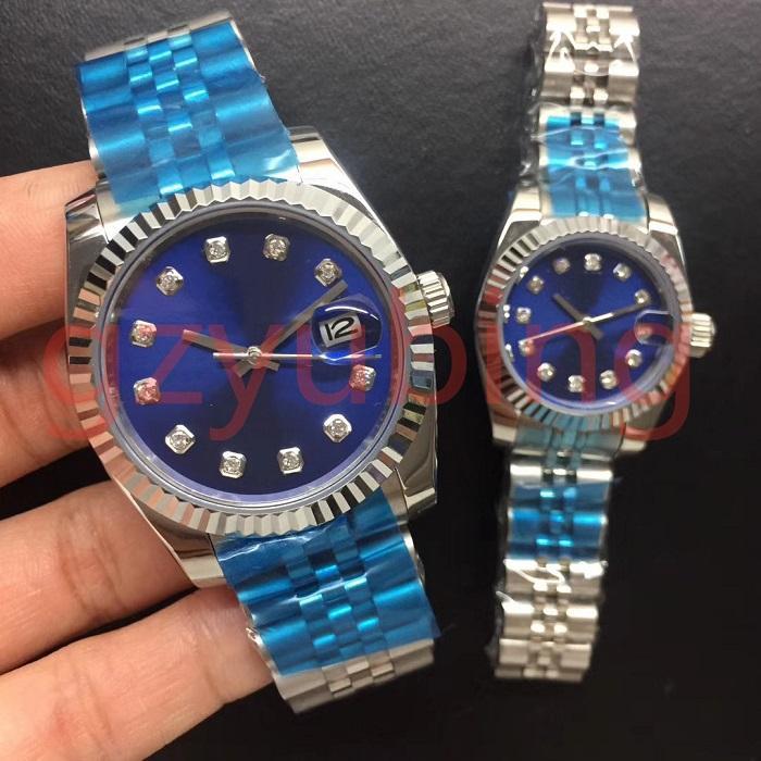 Мужские мужские женские женские часы часов влюбленные 28 мм / 36 мм классики 2813 автоматическое движение механическая леди наручные часы