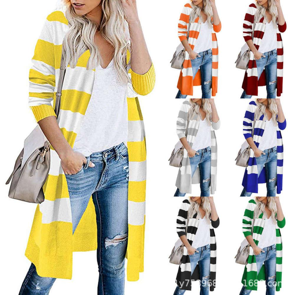 Мода Trend Женская средняя длина кардиган пальто осенью и зимой New In Net красный вязаный свитер женской одежды