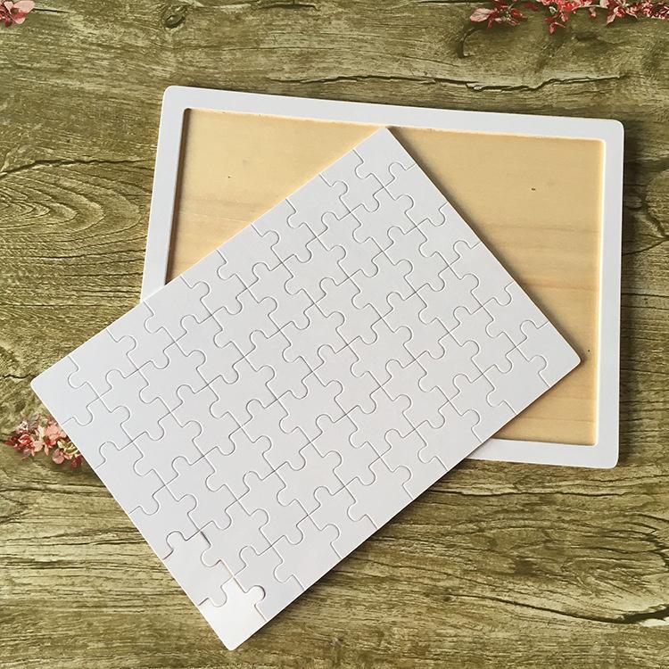 DIY Sublimation Blank Blank Jigsaw Transfer Blank Blanks Puzzle Product A4 / A5 Giocattoli in legno multi-standard per bambini OWF9338