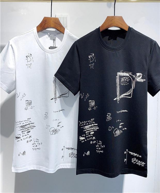 Sommer Designer Print Herren T-shirt Beiläufige Straße Tragen Mann Mode Hip Hop T-Shirt Sport Kurzarm Baumwolle T-Shirt Vintage Herren Tshirt