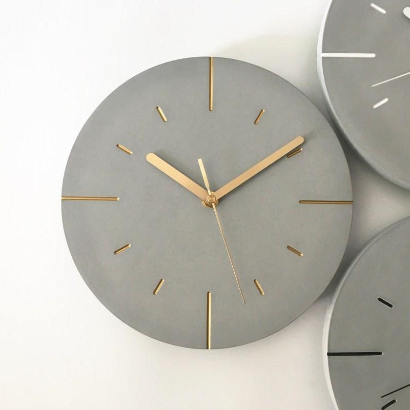 Simple Round Nordic Wall Clock Fashion Modern Design Wall Decoration Clock Sticker Reloj De Pared Watches Home Decor BJ50WC