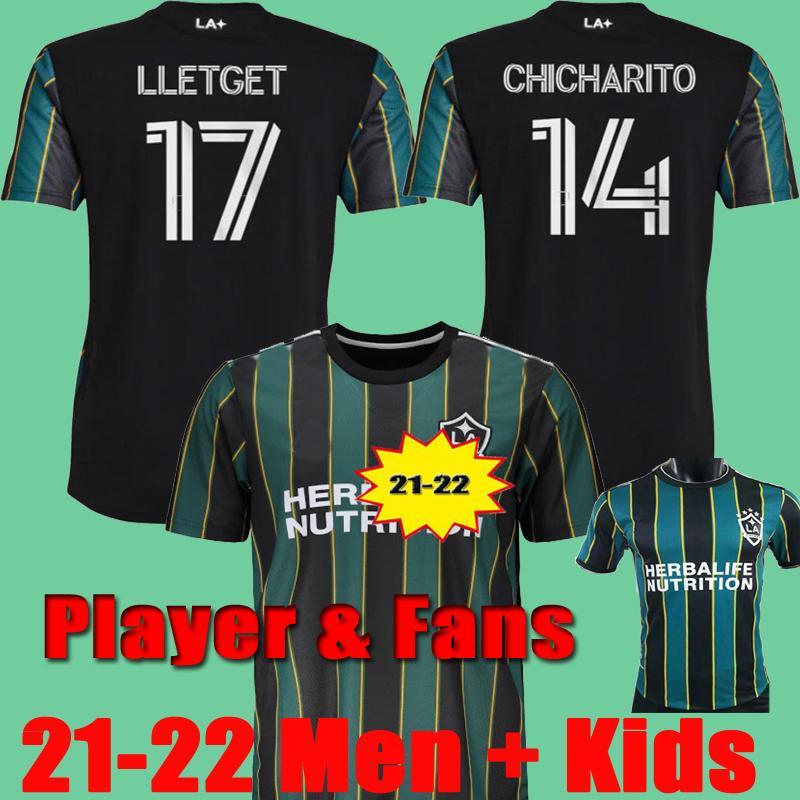 2021 2022 Chicharito La Galaxy Player Versión Fans 2020 Jersey de fútbol J.Dos Santos Hernández 20 21 22 Kamaranavy Camisetas de fútbol Hombres niños
