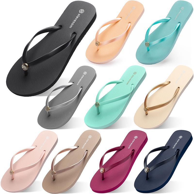 الأزياء النعال فليب يتخبط شاطئ الصنادل الأحذية Type41 الصيف شوهي الرياضة حذاء نسائية الأخضر الأصفر البرتقالي البحرية بولي الأبيض الوردي البني 35-38