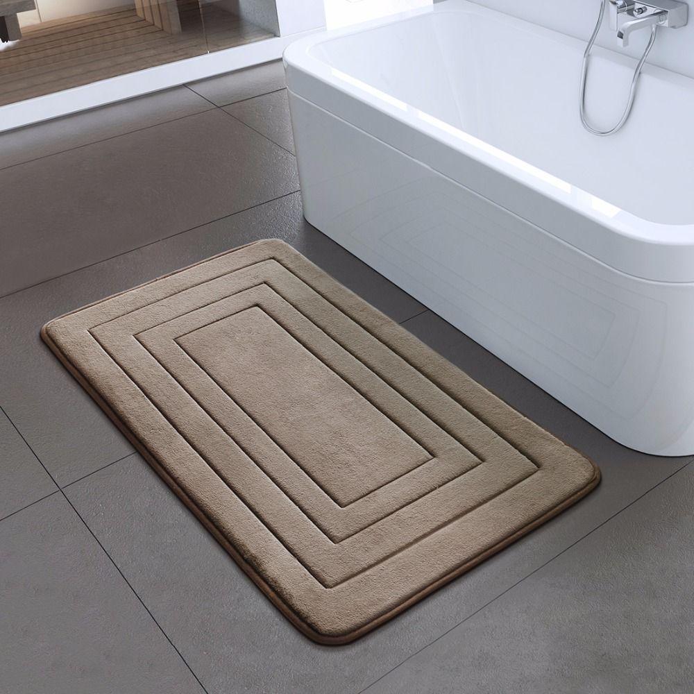 High Quality Bath Carpet Bedroom Non-slip Carpet Foam Rug Shower Carpet for Bathroom Kitchen Bedroom 40x60cm