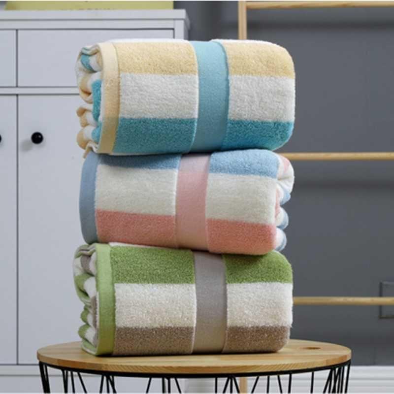 Towel Stripe Cotton Bath Towels Set Bathroom Super Absorbent Travel For Home 70x140cm Large Soft 34*76cm Adults Gift S0966