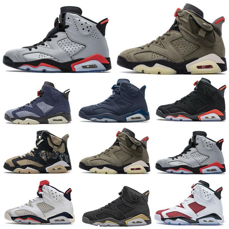 Jumpman 6 6s sapatos de basquete retro homens infravermelhos reflexivo lavado jeans DMP Millennial sapato hare esportes homens treinadores sneakers r7xf #