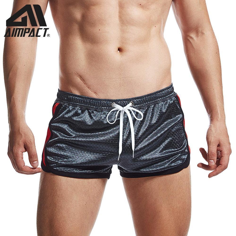 Aimpact Fitness Mens Mens Malha Quick Seco Respirável Executivo Sports Trunks Jogger Ginásios Homens 210310