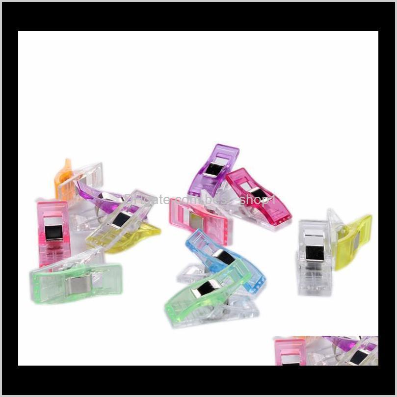 Herramientas de artesanía Mini clips de costura multipropósito Pinzas para la ropa perfecta para la costura de unión a la acolchado de tela artesanía de papel trabajo y colgando poco th k10bj
