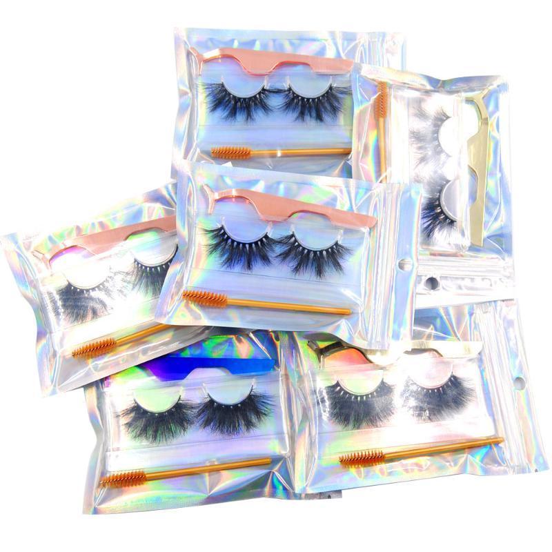 False Reelashes 5D 25 мм MICK 100% REAL FAVER ручной работы Глаза ресничный макияж набор с щеткой Twizeer Reurable для рынка