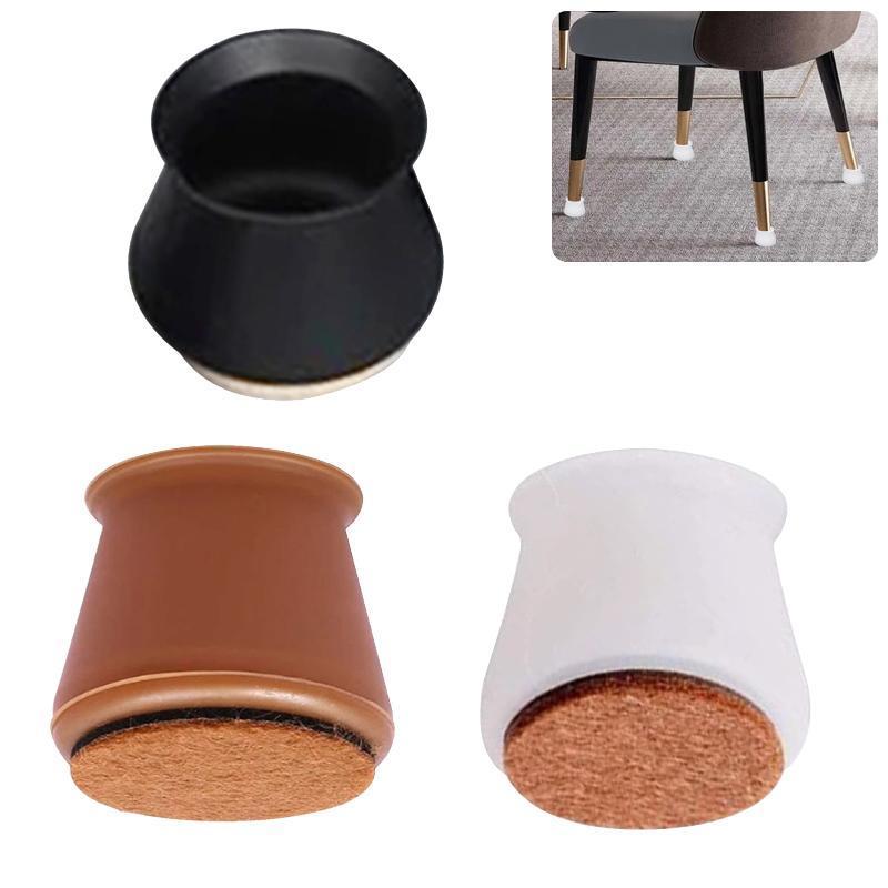 Чехлы для стула 4 шт. Фетровый стол Защитное покрытие Нет царапин Шум для защиты мебели Ноги и пол