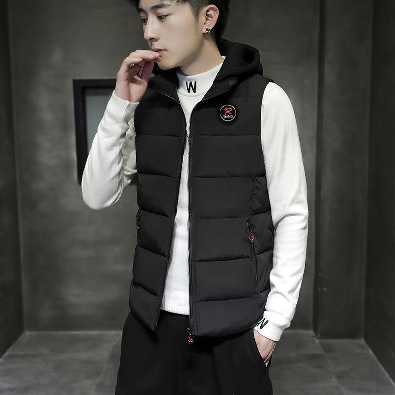 Wayctoat Nouvelle mode coréenne en coton et veste d'hiver épaissie gilet chaud de l'automne manteau sans manches